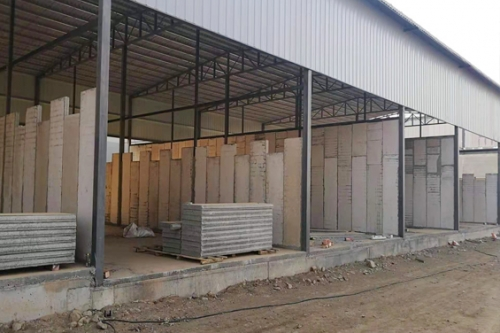 兰州轻质隔墙板厂房安装施工中