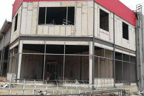 久和建材城库房建设施工安装中